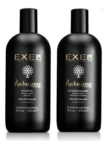 Imagen 1 de 1 de Shampoo Y Acondicionador Richissime Argán Y Maracuya Exel