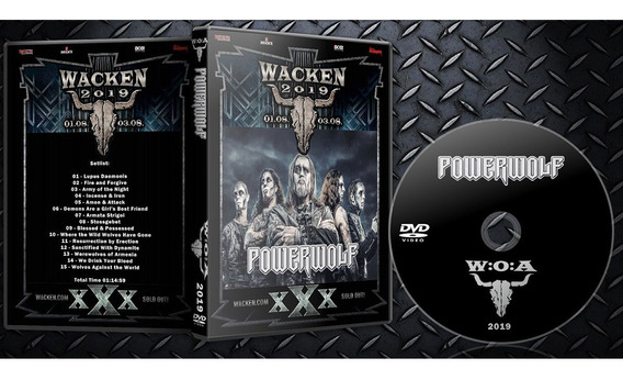Dvd Powerwolf Wacken 2019