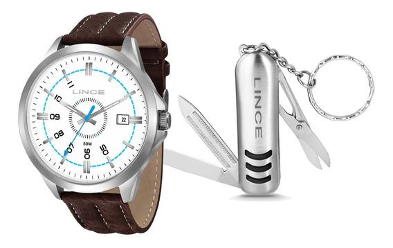 Relógio Lince Mrc4362s Kt40b2nb Kit Chaveiro Masc- Refinado