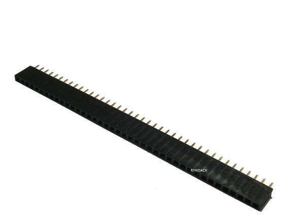 10 Peças * Barra De 40 Pinos Fêmea Passo 2,54mm Mci