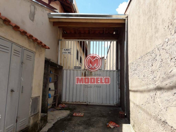 Casa Com 1 Dormitório Para Alugar, 35 M² Por R$ 500/mês - Centro - Piracicaba/sp - Ca2966