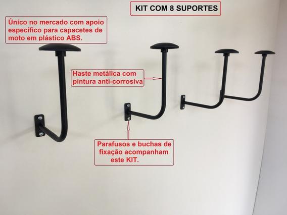 Suporte De Capacetes P/ Parede Kit C/ 8 Pçs ( Exclusivo )