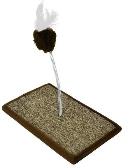 Brinquedo Carpete Para Gato Marrom São Pet