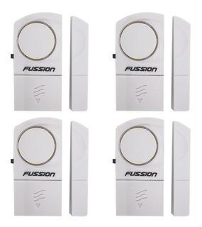 Paquete De 4 Alarma Con Sensores Ideal Para Ventana Y Puerta