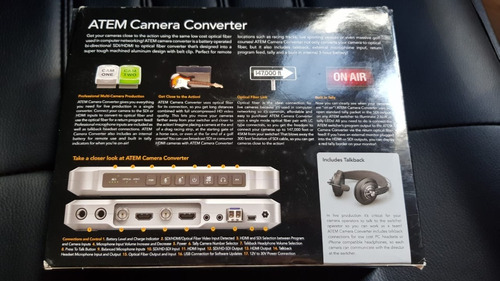 Imagen 1 de 4 de Descuento  Atem Camera Converter Blackmagic!