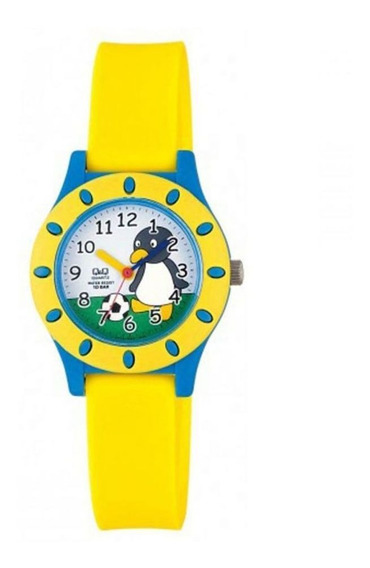 Relógio Q&q Infantil Masculino Pinguim Futebol Prova D