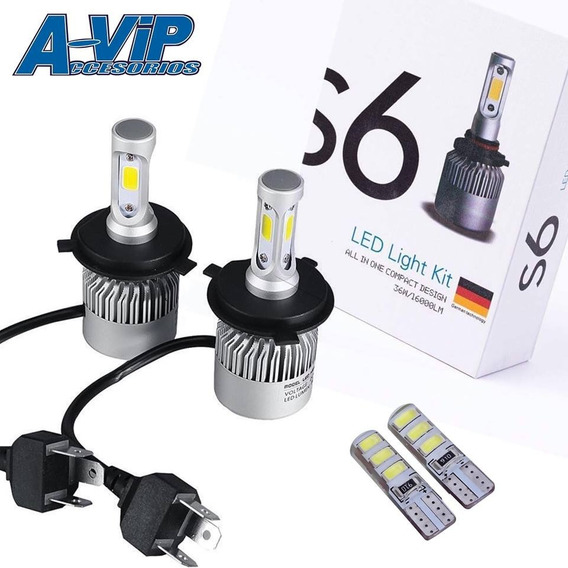 Kit Bi Led Cree S6 32000 Lm H4 + T10 De Regalo 10ma Gen