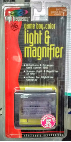 Game Boy Color. Light & Magnifier. Ilumina & Aumenta Tela