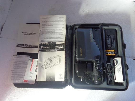 Filmadora Sharp Slim Cam 12x Mod Vl -l50 B Liga/ Leia Mais