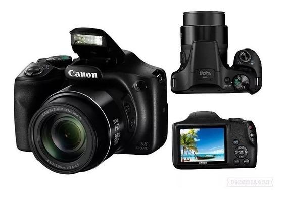 Maquina Fotográfica P/amador Canon Powershot Sx540hs+ Bolsa