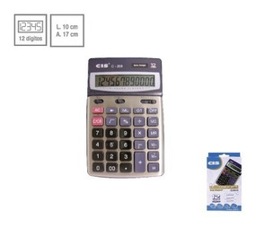 Calculadora De Mesa Cis C - 208 Dual Power 12 Digitos