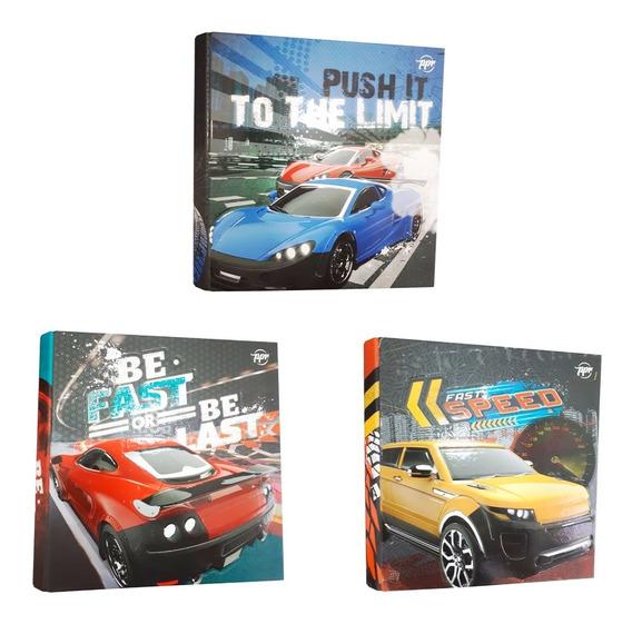 Carpetas Escolares Numero 3 Autos Speed Rápido Cuotas