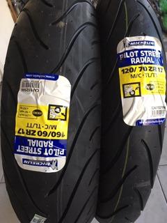 Cubiertas Michelin 120 70 17+ 160 60 17 Pilot Street Radial