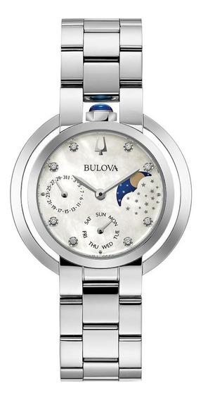 Relógio Feminino Bulova Rubaiyat Aço Prata 96p213