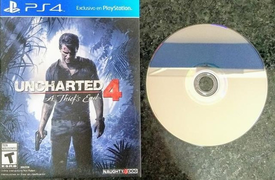 ( Frete R$ 9.90 ) Uncharted 4 Português Ps4 Mídia Física Cd Jogo Game Play 4