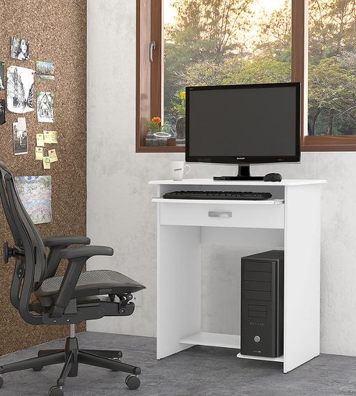 Mesa De Computador Pratica Com 1 Gaveta, Branco