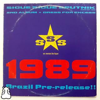 Lp Sigue Sigue Sputnik 1989 Brazil Pre-release!! Disco Vinil