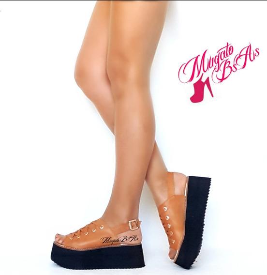 Sandalias Zapatos Mujer Plataforma Multi Tachas Verano 2018