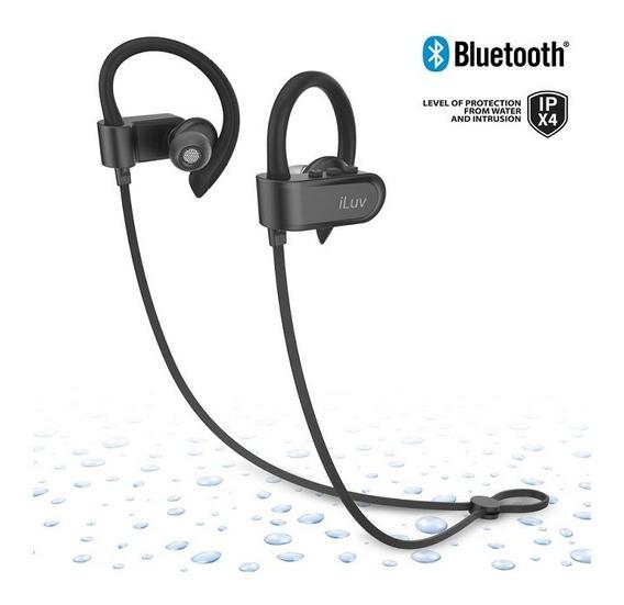Fone De Ouvido Sem Fio Bluetooth V4.2 Earbuds Ipx4 Fitactive Jet 3 Iluv - Preto