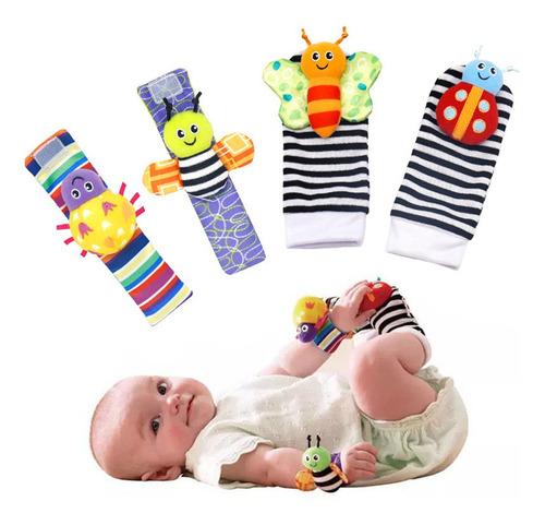 Sonajas Para Bebe Calcetines Juguete Estimulación Temprana