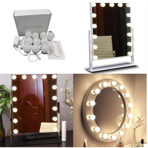 Arandela Luz De Espelho  Maquiagem Studio Glow 10 Lampadas