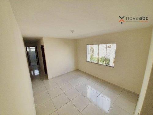 Apartamento Com 2 Dormitórios Para Alugar, 70 M² Por R$ 1.600/mês - Parque Das Nações - Santo André/sp - Ap3573