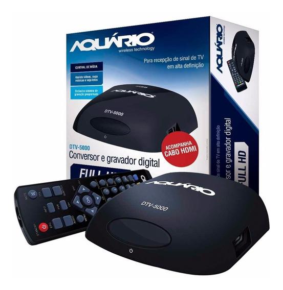 Conversor Digital Hdtv Dtv 5000 Aquario Tv 100% Original