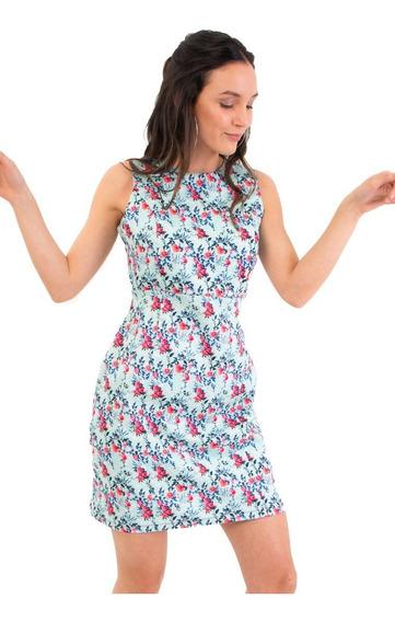 Vestido Corto Estampado De Mia Loreto Davalia