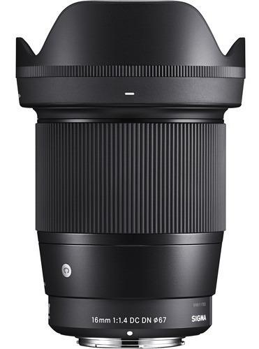 Lente Sigma 16mm F/1.4 Dc Dn Contemporary P/ Câmeras Sony E