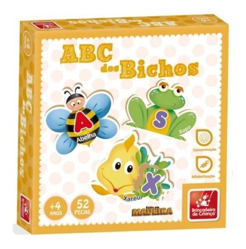 Brinquedo Pedagógico Em Madeira Abc Dos Bichos