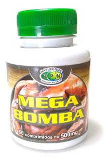 4 Potes Mega Bomba Massa Muscular 4 X60 Cáps 500mg Original