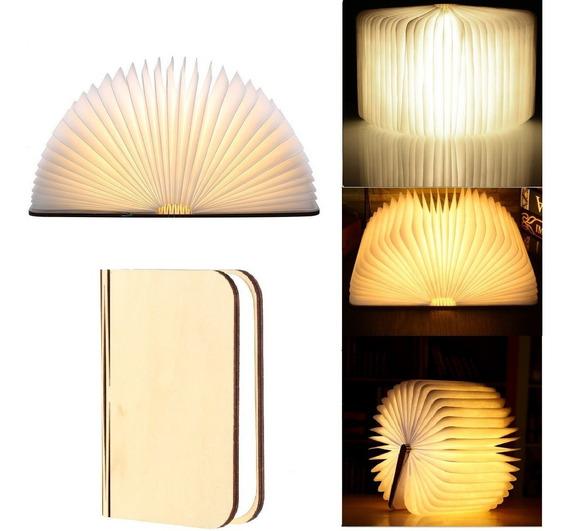 Lámpara Portátil Y Plegable En Forma De Libro Luz Led