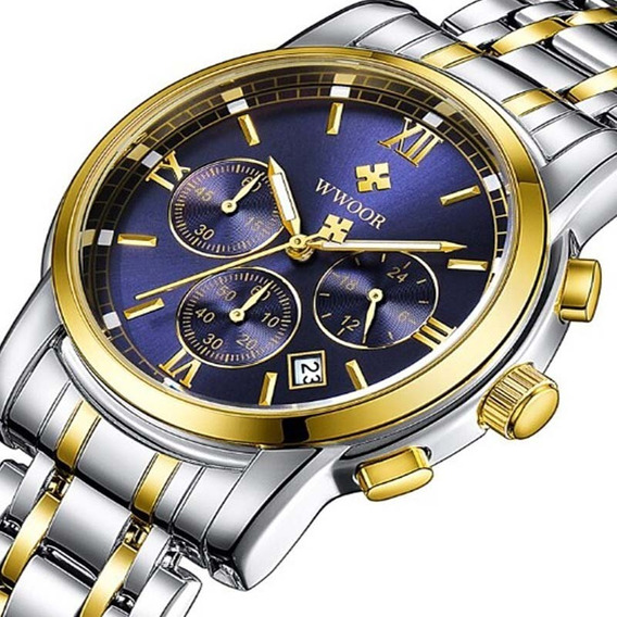 Relógio Wwoor 8864 Unissex Casual De Luxo Original