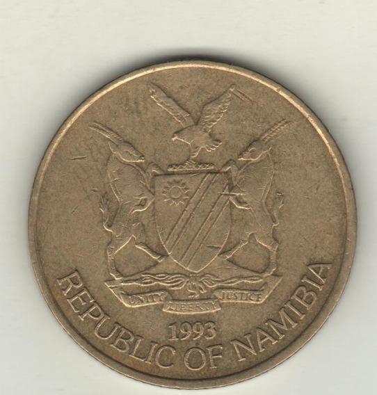 Namibia Moneda De 5 Dólares Año 1993 Km 5 - Xf-
