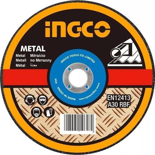 Imagen 1 de 3 de Disco De Corte 9 Pulgada Metal Ingco 1.9mm Inox Metal Tyt