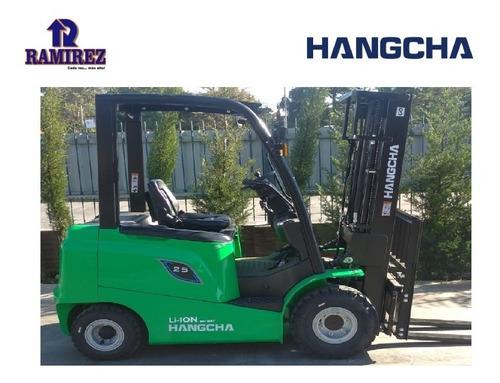 Autoelevador Montacarga Eléctrico Hangcha 2500kg - Litio