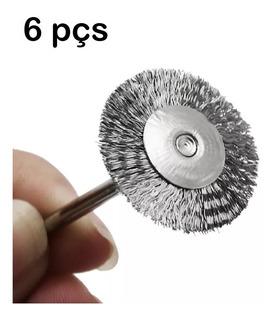 Escova Aço Dremel Polimento Lixar 6pçs V Cx20