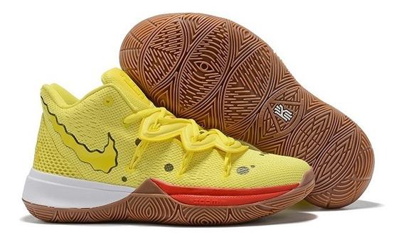 *leia A Descrição* Tenis Nike Kyrie 5 Masculino Varias Cores Na Caixa Frete Gratis Bob Esponja Lula Molusco Patrick
