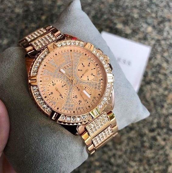 Relógio Feminino Guess W1156l3 Lady Frontier Rose