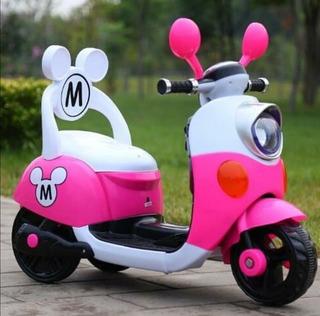 Moto Eléctrica De Mickey Mouse Y Minnie Mouse