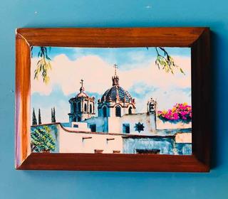 Cuadro D Foto De Acuarela Iglesias De San Luis Potosi Mexico