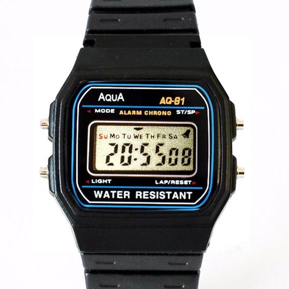 Kit 2 Relógio Masculino Aqua Digital Aq 81 Prova Dágua