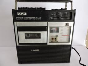 Rádio Aiko Cassette Recorder Atpr-406 Funcionando Veja Video