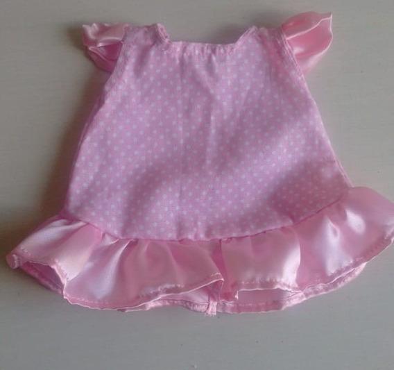 Vestidos Baby Alive Rosa Babado