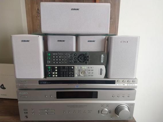Receiver Sony Str-k760p Com Controle E Dvd Sony E Completo.