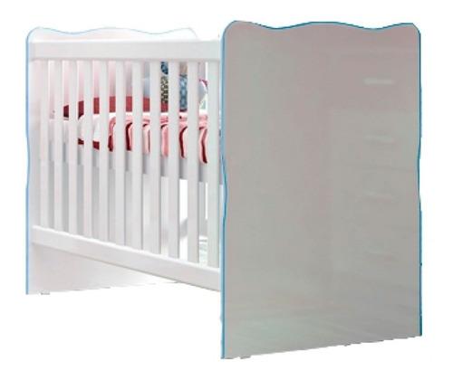 Imagen 1 de 8 de Cuna Cama Infantil Niños Dormitorio Celeste Rosada If01