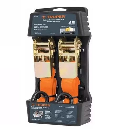Sunchos Tensor Sujetador Linga Truper Malacate 675kg X2