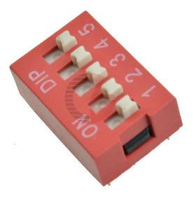 Chave Seletora Dip Switch 5 Vias 180 Graus Arduino Pic Arm