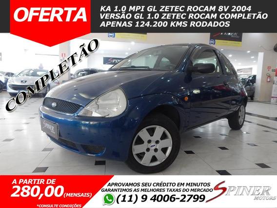 Ford Ka 1.0 Mpi Gl Zetec Rocam 8v Completo Baixa Km