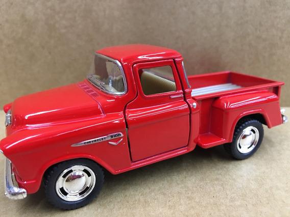 Miniatura Chevy Stepside Pick-up 1955 Vermelho